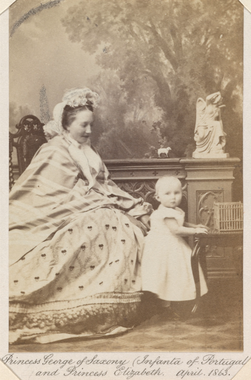 Princess Maria Anna of Saxony, née Infanta of Portugal, with her second daughter, Elisabeth