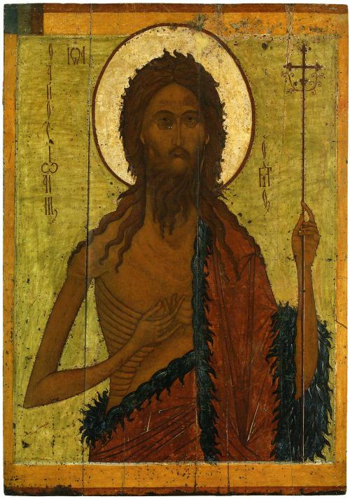 A starving St. John the Baptist,1400s