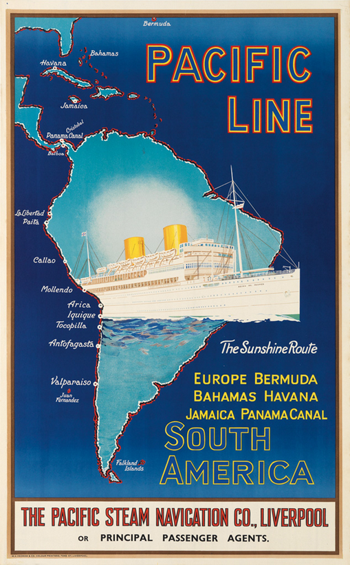 Pacific Line to the Pacific Coast of South America