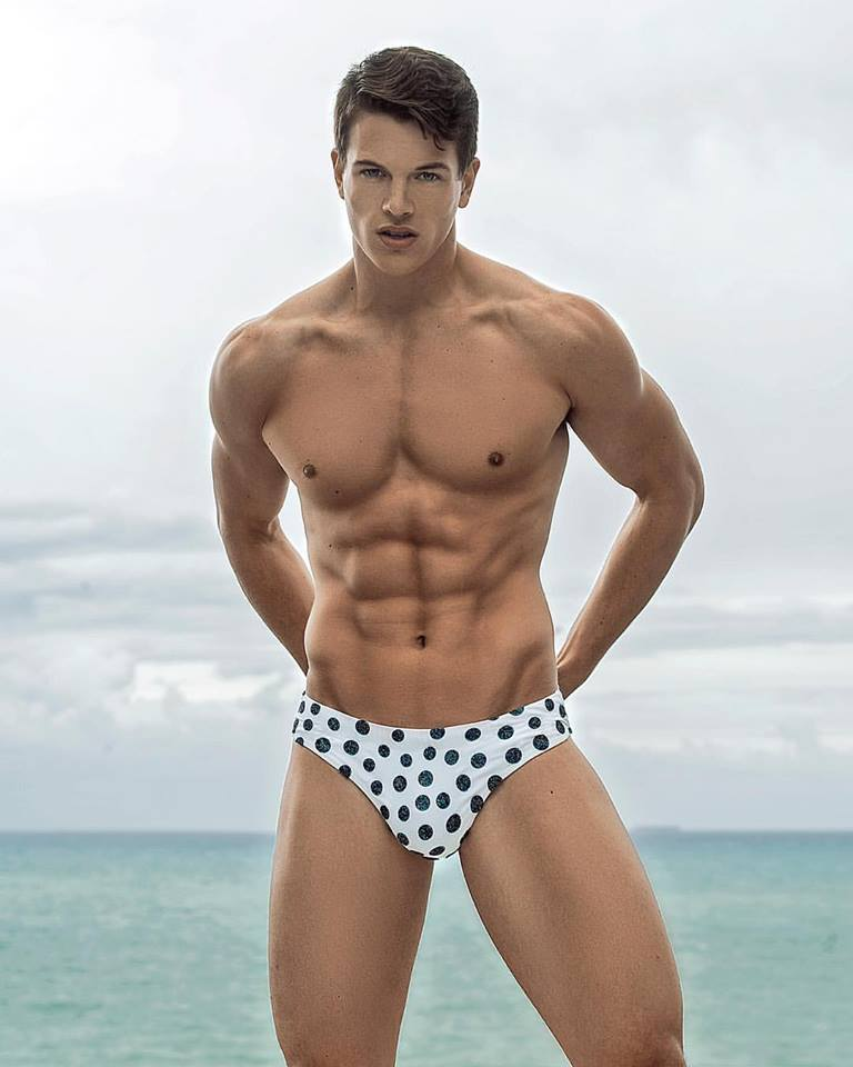 Polka dot speedo model