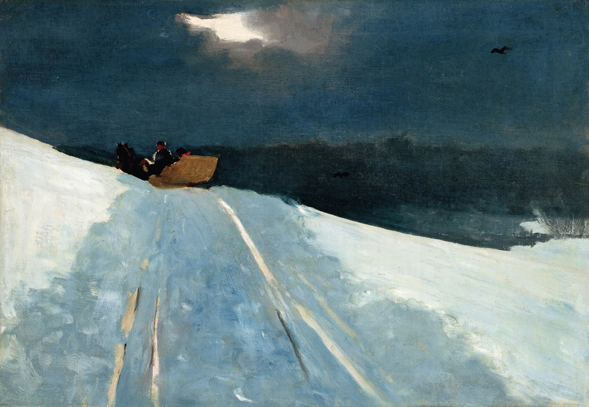 "Winslow Homer, ""Sleigh Ride"", 1890s"