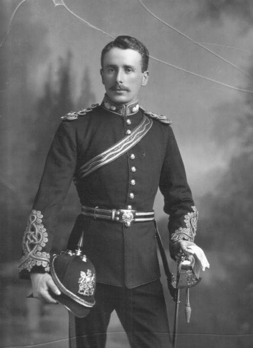 Sir Arthur Robert Pyers Southwell, 5th Viscount Southwell, UK (1872-1944), and hisstache