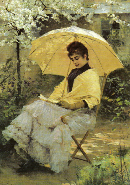 "Albert Edelfelt, ""Woman and Parasol"", 1886"