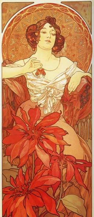 """Ruby"" by Alphonse Mucha"