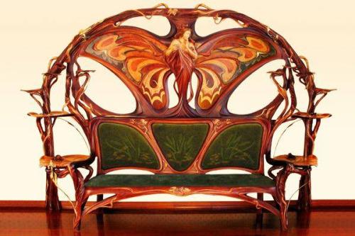 Art Nouveau Settee by YuriMoshans