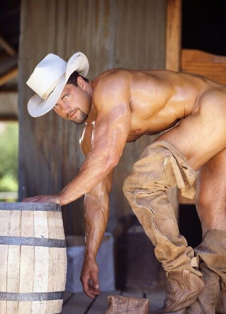 Gratuitous Shirtless (and Bottomless) Cowboy by Colt