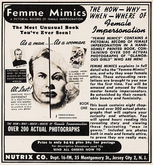Femme Mimics, circa1950