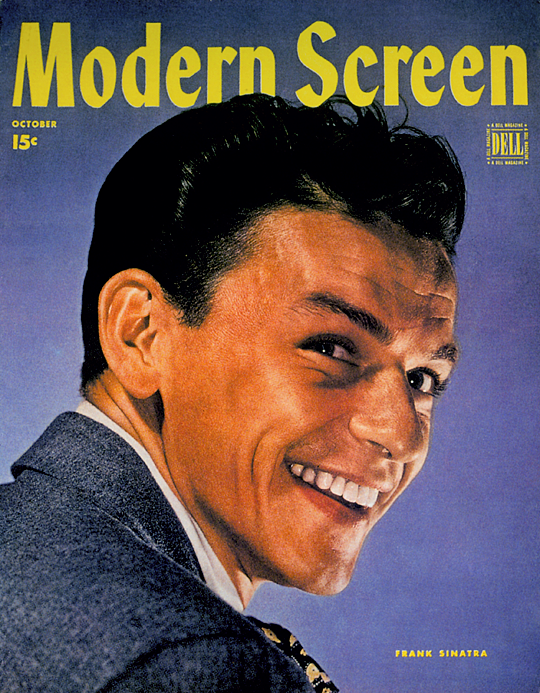 Young Frank Sinatra on the cover of 'Modern Screen', 1940s
