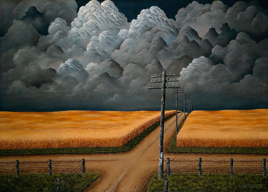 """Gray and Gold"", by American painter John Rogers Cox, 1942"