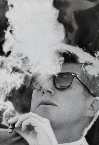 JFK, being cool