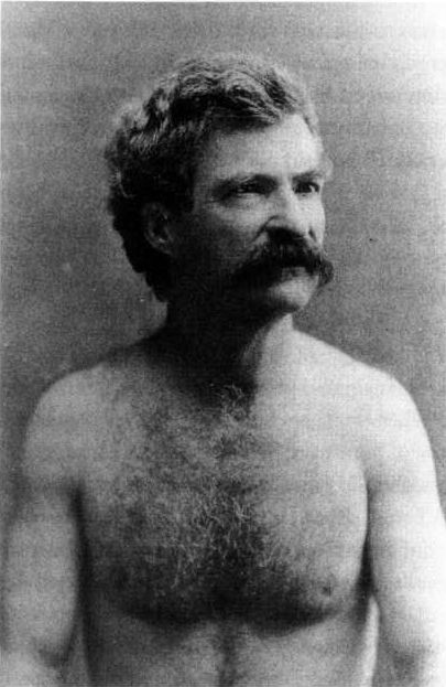 Gratuitous Shirtless Photo of American Writer MarkTwain