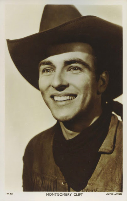 "Montgomery Clift in a promo shot for ""Red River"""