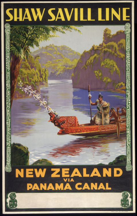 Old travel poster for New Zealand