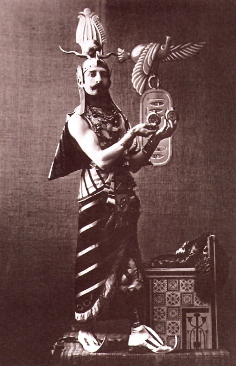 Pierre Loti as Osiris for a costime ball, late 1800s