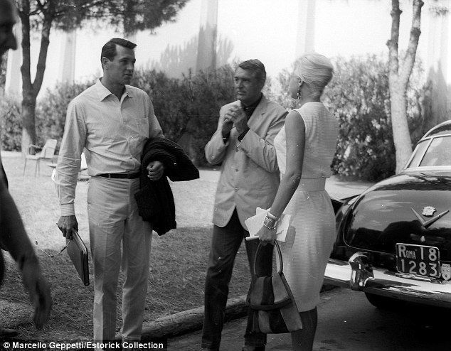 Rock Hudson and Cary Grant in Rome