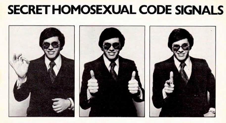 Secret homosexual code signals