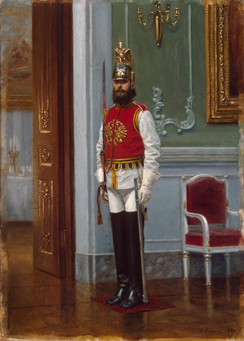 Sentry of the Life-Guards Horse Regiment in the Winter Palace, St.Petersburg
