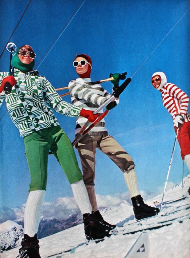 Ski fashion, photo Vernier, Jardin des Modes, December1965