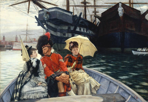 """The Portsmouth Dockyard"" by James Tissot, 1877"