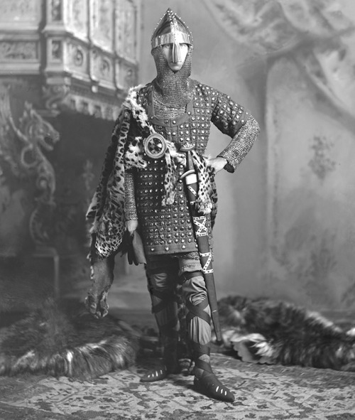 Alfred (Alexander William Ernest Albert), Hereditary Prince of Saxe-Coburg and Gotha, dressed for The 1897 Devonshire House Ball in the role of Duke Robert of Normandy, A.D. 1060