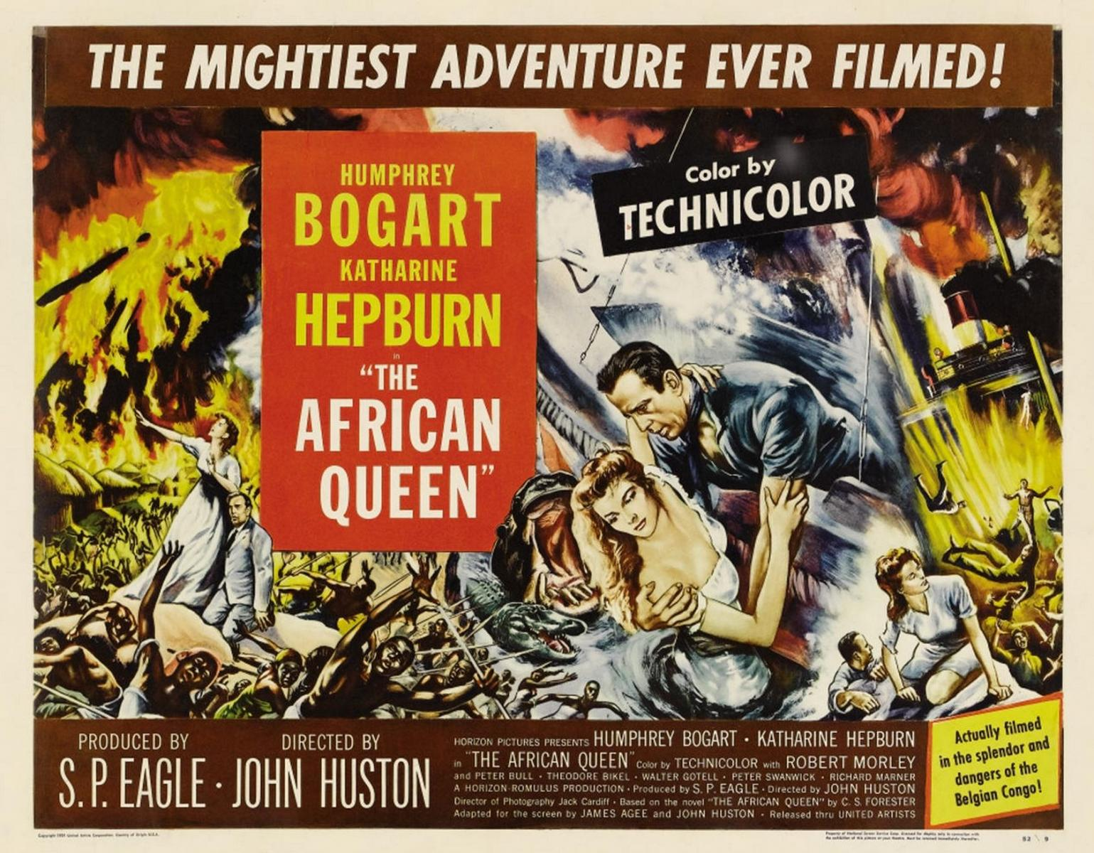 "Original poster for ""The African Queen"", 1951"