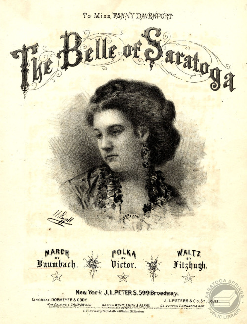 To Miss Fanny Davenport, The Belle of Saratoga