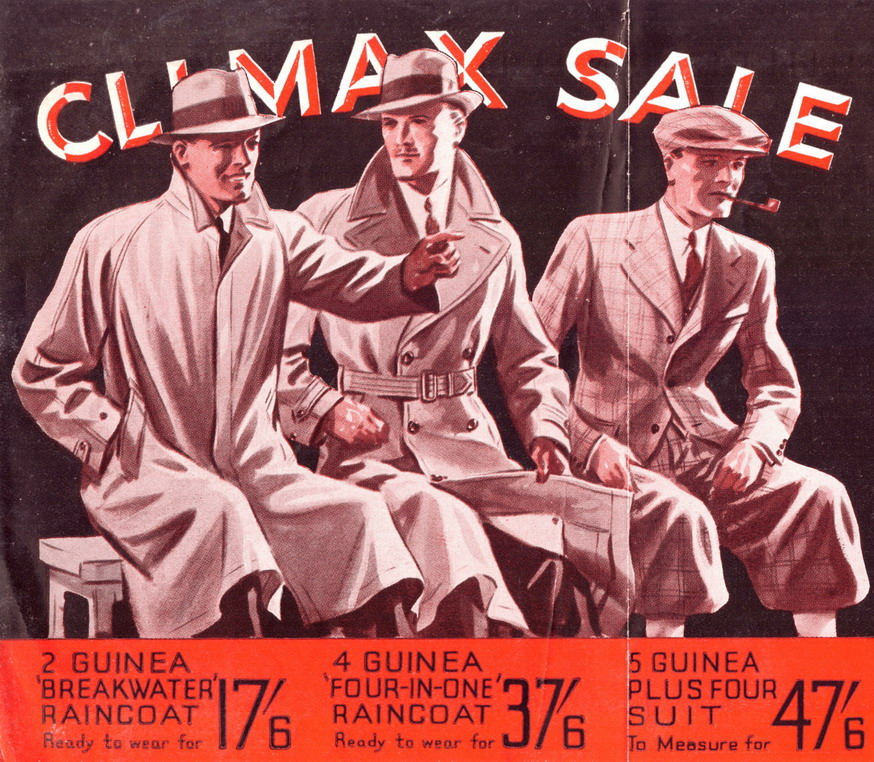 "Burton Tailor's ""Climax Sale"", London"