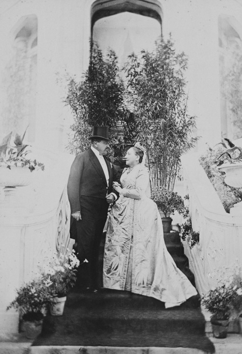 Ernest II, Duke of Saxe-Coburg-Gotha, and his wife Alexandrine