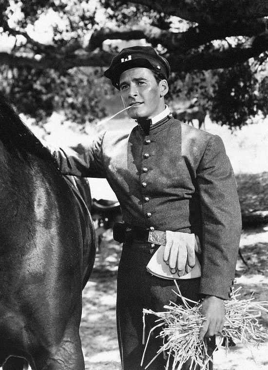 "Errol Flynn in a promo shot for ""They Died With Their Boots On"""