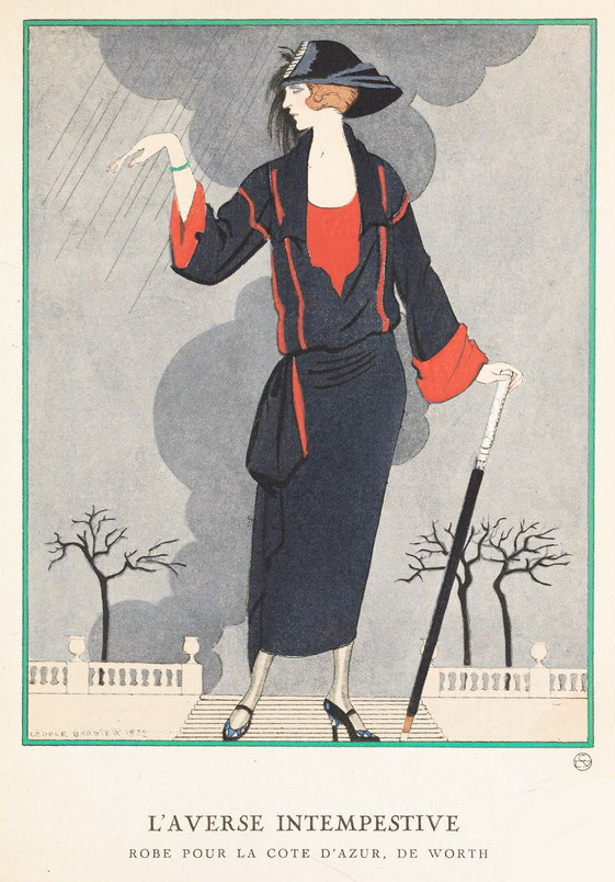 Robe pour la Cote d'Azur, illustration par George Barbier