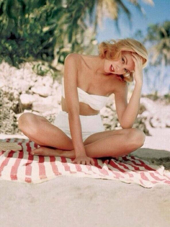 Grace Kelly, a la plage