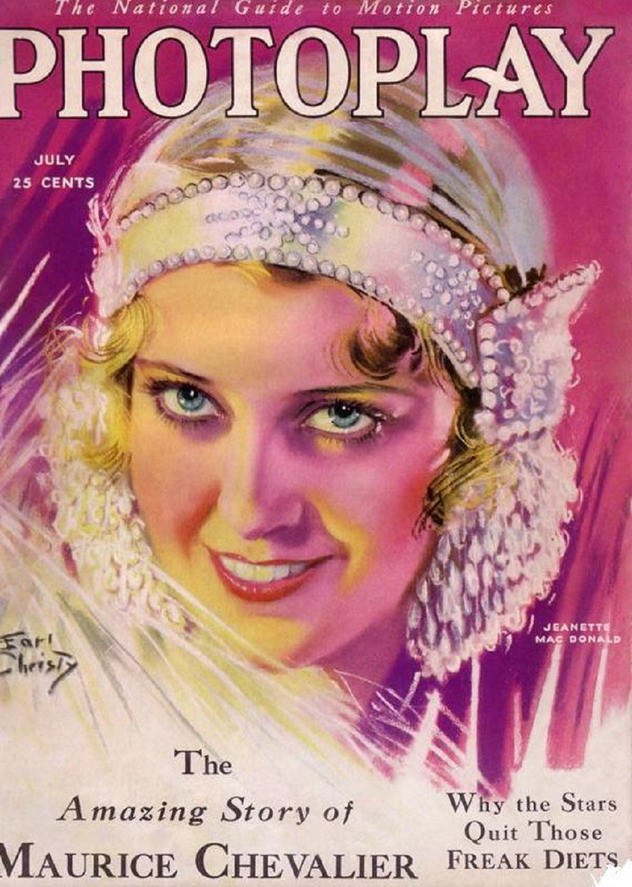 "Jeanette MacDonald on the cover of ""Photoplay"", 1930s"