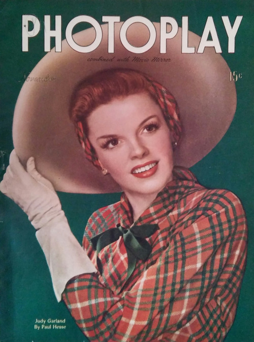 "Judy Garland on the cover of ""Photoplay"", 1945"