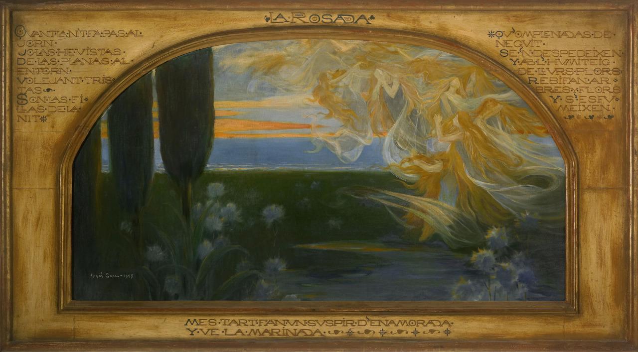 """La Rosada"", by Spanish Artist Adrià Gual,1897"
