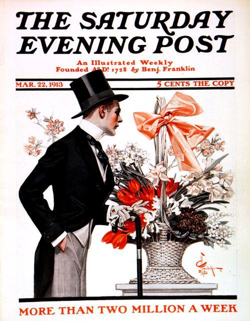 Leyendecker Easter cover illustration,1913