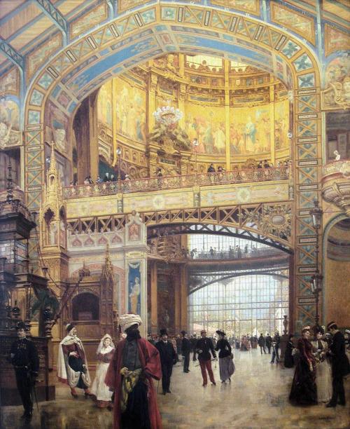 """Louis Beroud  """"Le Dôme Central de la Galerie des Machines lors de l'Exposition de 1889,Paris"""""""