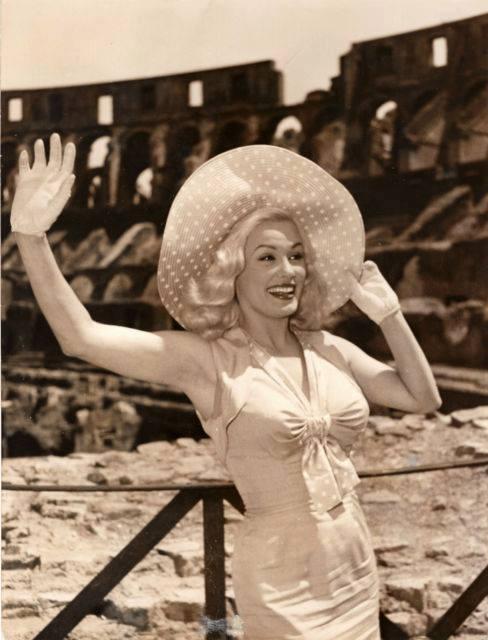 Mamie Van Doren in Rome,1950s