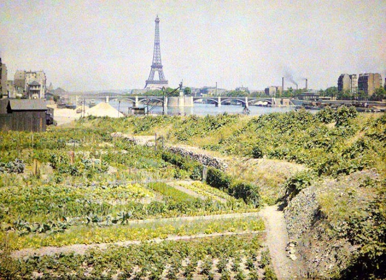 Paris, Autochrome color photo by Albert Kahn, 1914