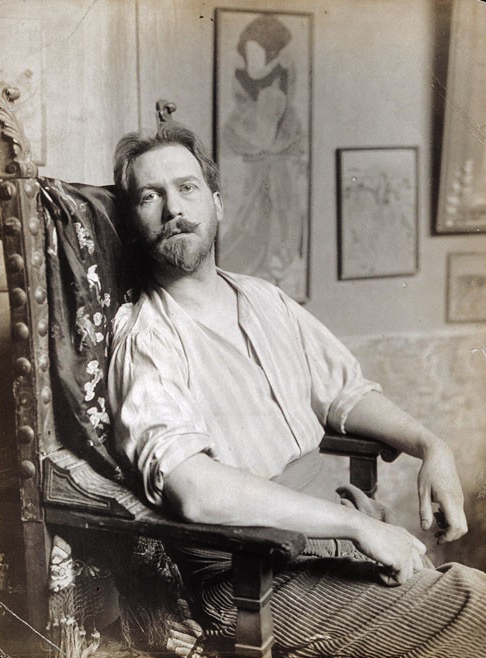 Portrait of American Painter Albert Herter, circa 1910