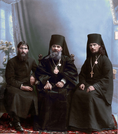 Rasputin and some leaders of the Russian Orthodox Church