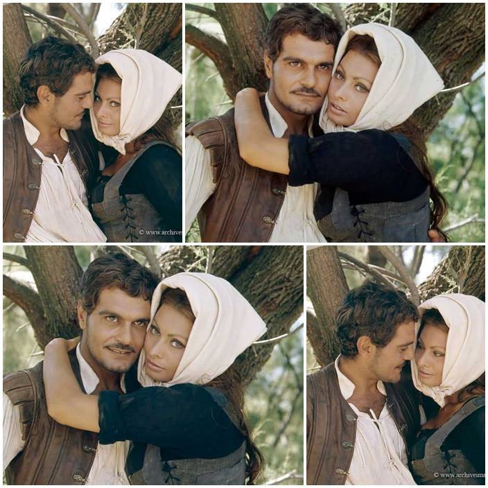 Omar Sharif and Sophia Loren