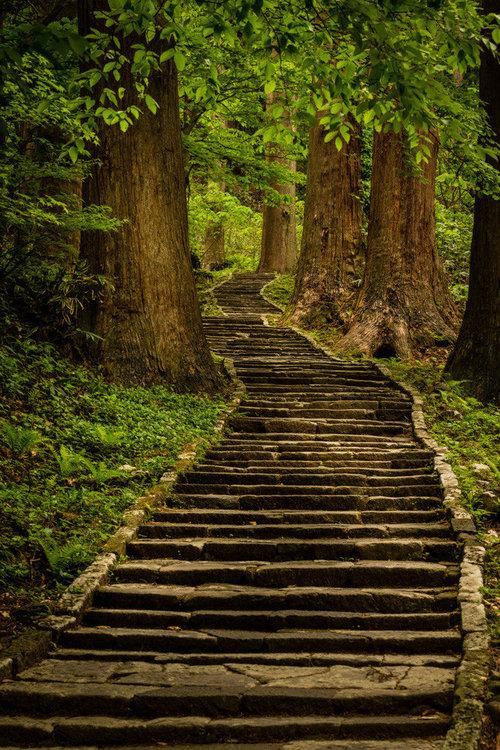 Stone steps