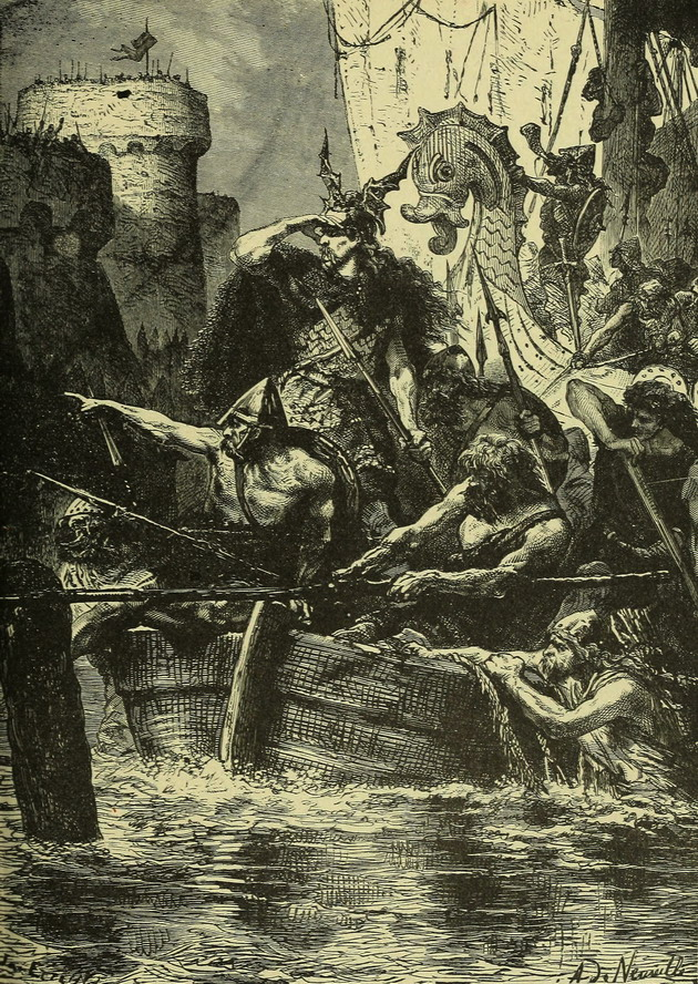 The Barques of the Northmen before Paris (Upper Normandy)