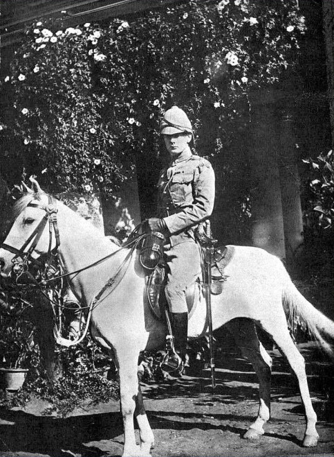 Winston Churchill, and the horse he rode in on, India,1896