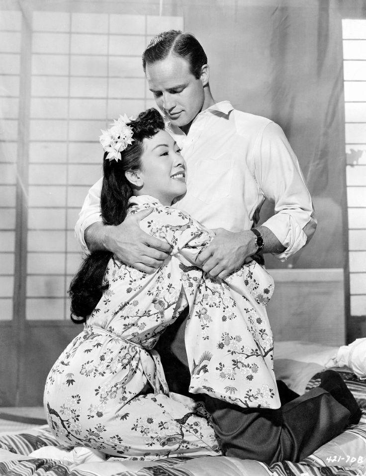 Miiko Taka and Marlon Brando,1957