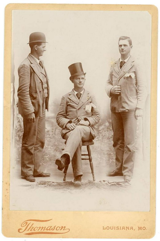 Three Men, Missouri, 1800s