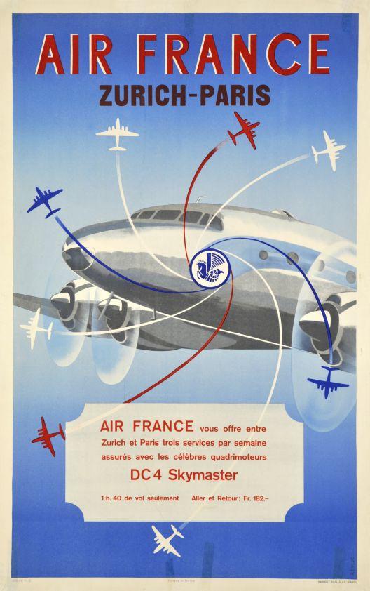 Air France DC-4 serviceParis-Zurich