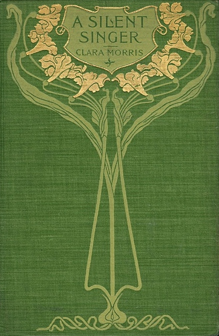 Art nouveau book cover, circa 1900