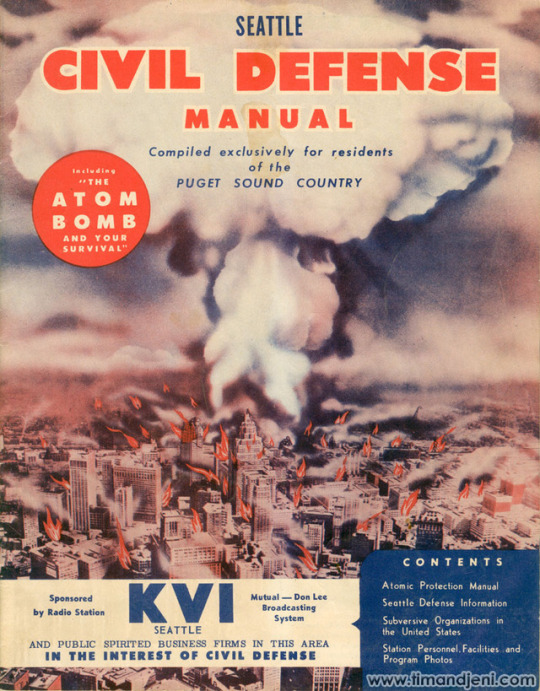 Civil defence manual, Seattle, 1950s