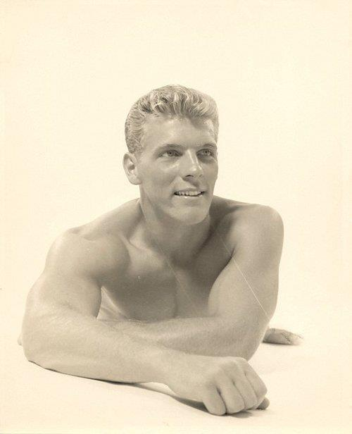 Gratuitous Shirtless Blond Model from long ago
